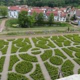 rekonstruiertes Parterre auf der Gartenterrasse von Schloss Wilhelmsburg in Schmalkalden
